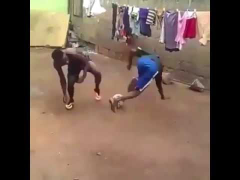 Amazing football skill by African kid