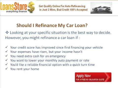 when should you refinance your car youtube. Black Bedroom Furniture Sets. Home Design Ideas