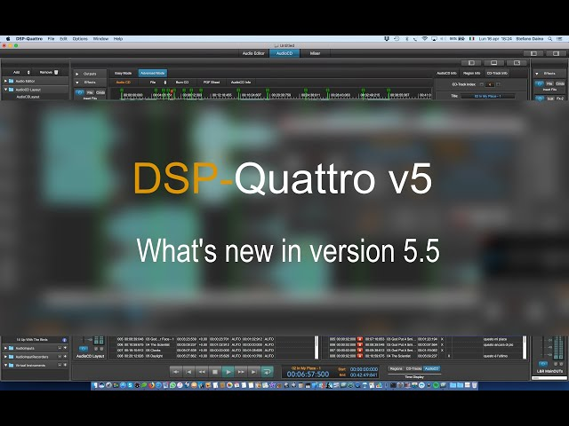 DSP-Quattro version 5.5: what is new.