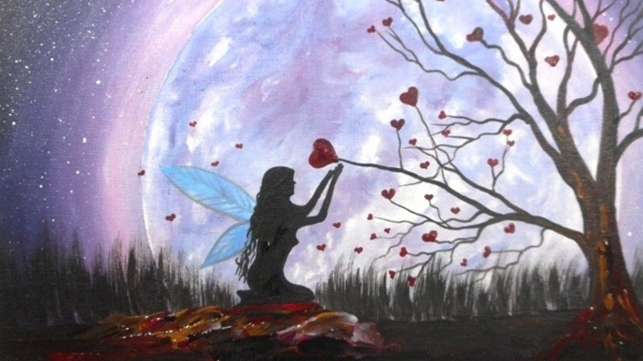 Fairy Acrylic Painting On Canvas For Beginners Youtube