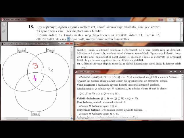 18/b Feladat - Halmazábra (Venn-diagram)
