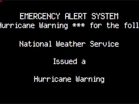 Miami Hurricane Warning T-Shirt | SportswearTees