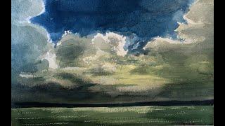 Stormy Lake Balaton - Watercolor Painting - By Vamos