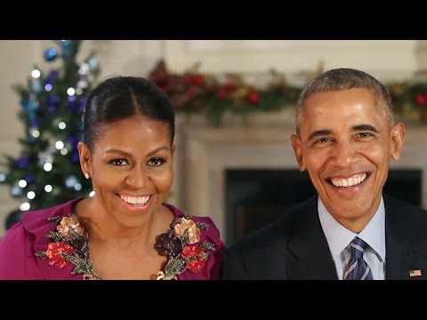 The Obamas wish you a happy holiday