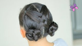 Crossed Buns Hairstyle