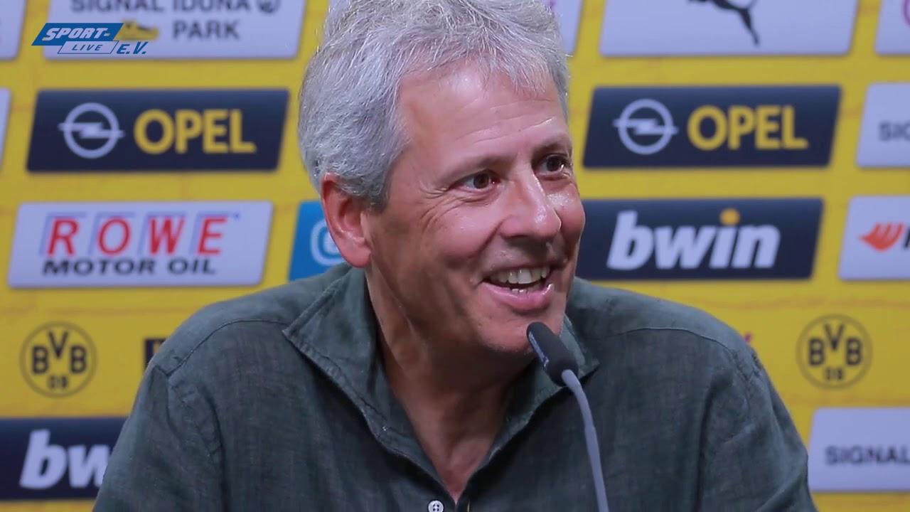 BVB-PK mit Lucien Favre vor dem Uerdingen-Spiel