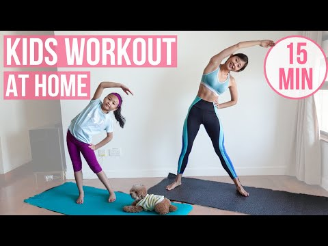 15 MIN KIDS / TEENAGERS HOME WORKOUT (with no jumping options) Emi