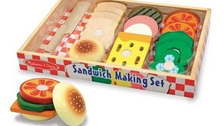 Kids Play: Melissa & Doug Wooden Sandwich-making Set Review Playtime