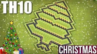 CLASH OF CLANS - TH10 CHRISTMAS TREE BASE 2016 🎄 TOWN HALL 10 CHRISTMAS SPECIAL BASE