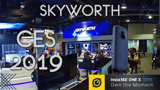 SKYWORTH at #CES2019 Google Maps Style Walkthrough with the Insta360 One X
