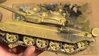 СБОРНЫЕ МОДЕЛИ Финал сборки и покраски кистью модели танка Т-55АМ