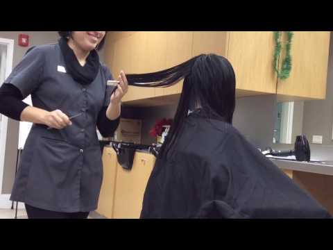 Long Layered Haircut With Side Bangs Demo