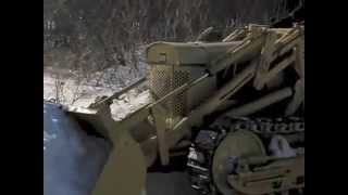 Oliver OC-46 Crawler Loader Pushing Snow