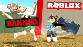 I got the Roblox BAN HAMMER!!
