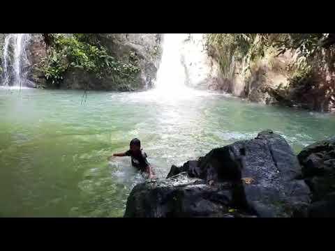 air terjun batu dinding - youtube