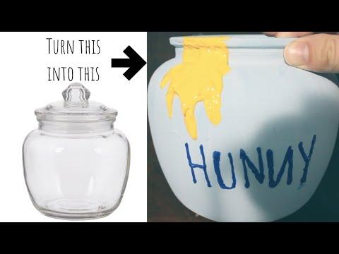 DIY Winnie The Pooh Inspired Hunny Pot Candy Jar