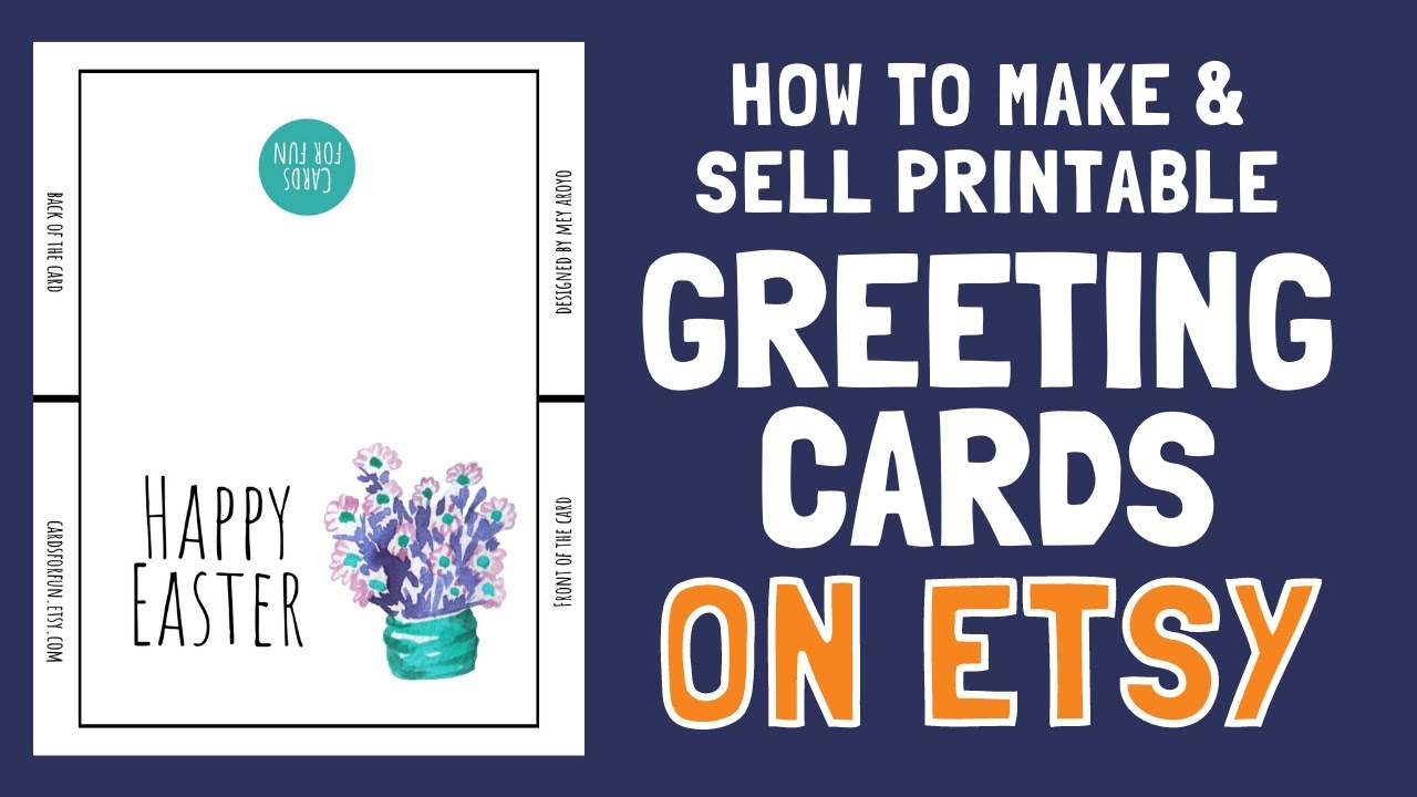How to MAKE & SELL Printable Greeting Cards on Etsy in 20  Full Tutorial