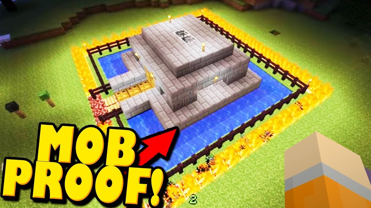 How to Make a Mob Proof House in Minecraft - YouTube
