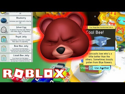 ROYAL JELLY WORLD RECORD  OVER 800 = NO GIFTED BEES???  ROBLOX BEE SWARM SIMULATOR