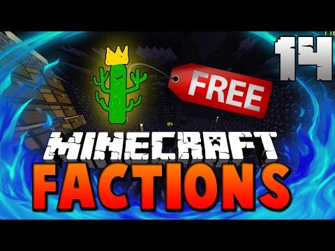 Free Cactus KING Rank!   Minecraft FACTIONS #14 (Cosmic PVP Pleb Planet)