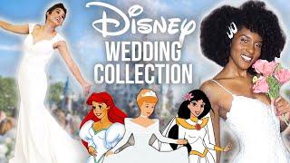 We Try On Disney's NEW Princess Wedding Dresses!!!