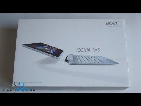 Распаковка Acer Iconia W510 (W5) (unboxing): док-клавиатура и планшет