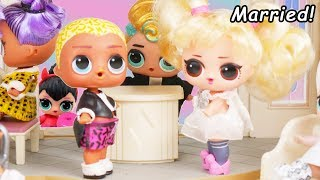 Wedding with LOL Surprise Dolls Morning Routine + Scribbles Get Married to Oops Baby