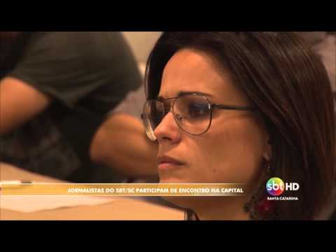 Jornalistas do SBT Santa Catarina participam de encontro em Florianópolis