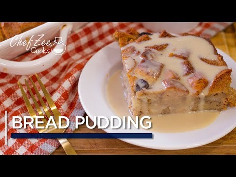 New Orleans Style Bread Pudding With Bourbon Cream Sauce   Pudin De Pan   Chef Zee Cooks