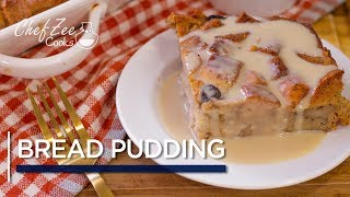 New Orleans Style Bread Pudding with Bourbon Cream Sauce | Pudin de Pan | Chef Zee Cooks