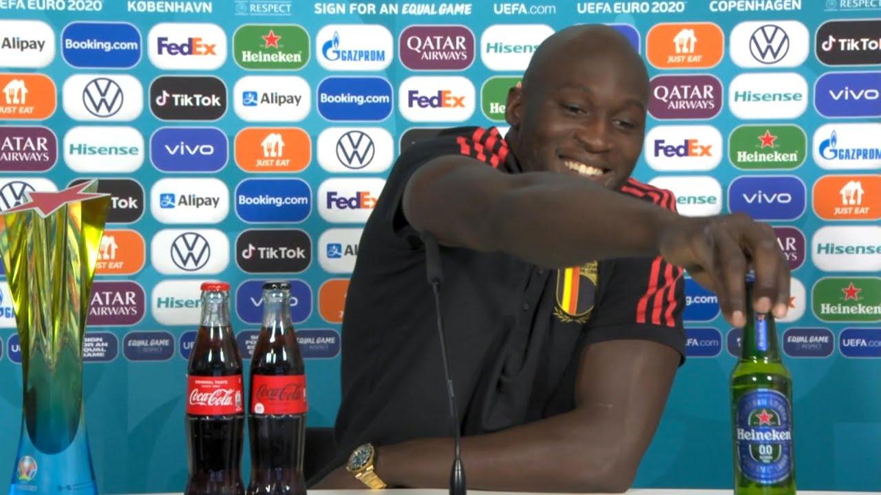 Download Denmark 1-2 Belgium - Romelu Lukaku - MOTM (Asks Coke For Sponsorship, Removes Heineken) - Euro 2020