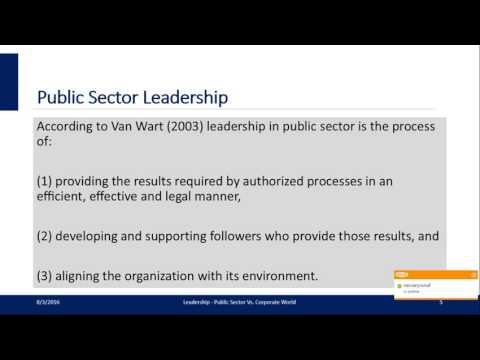 Leadership Differences: Public Sector Vs Corporate World