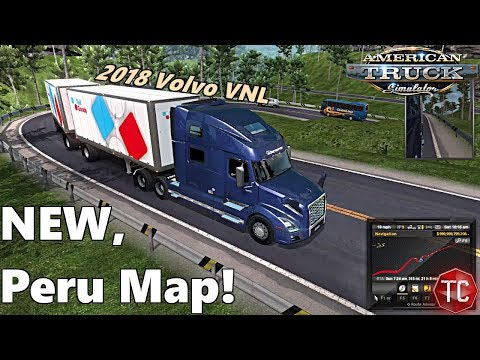 American Truck Simulator: 2018 Volvo VNL and NEW TROPICAL WORLD MAP!