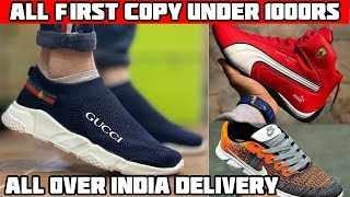 CHEAPEST ONLINE FIRST COPY SHOES UNDER 1000RS ONLY! AND CLOTHES TOO PUMA NIKE ADIDAS GUCCI  SHOES