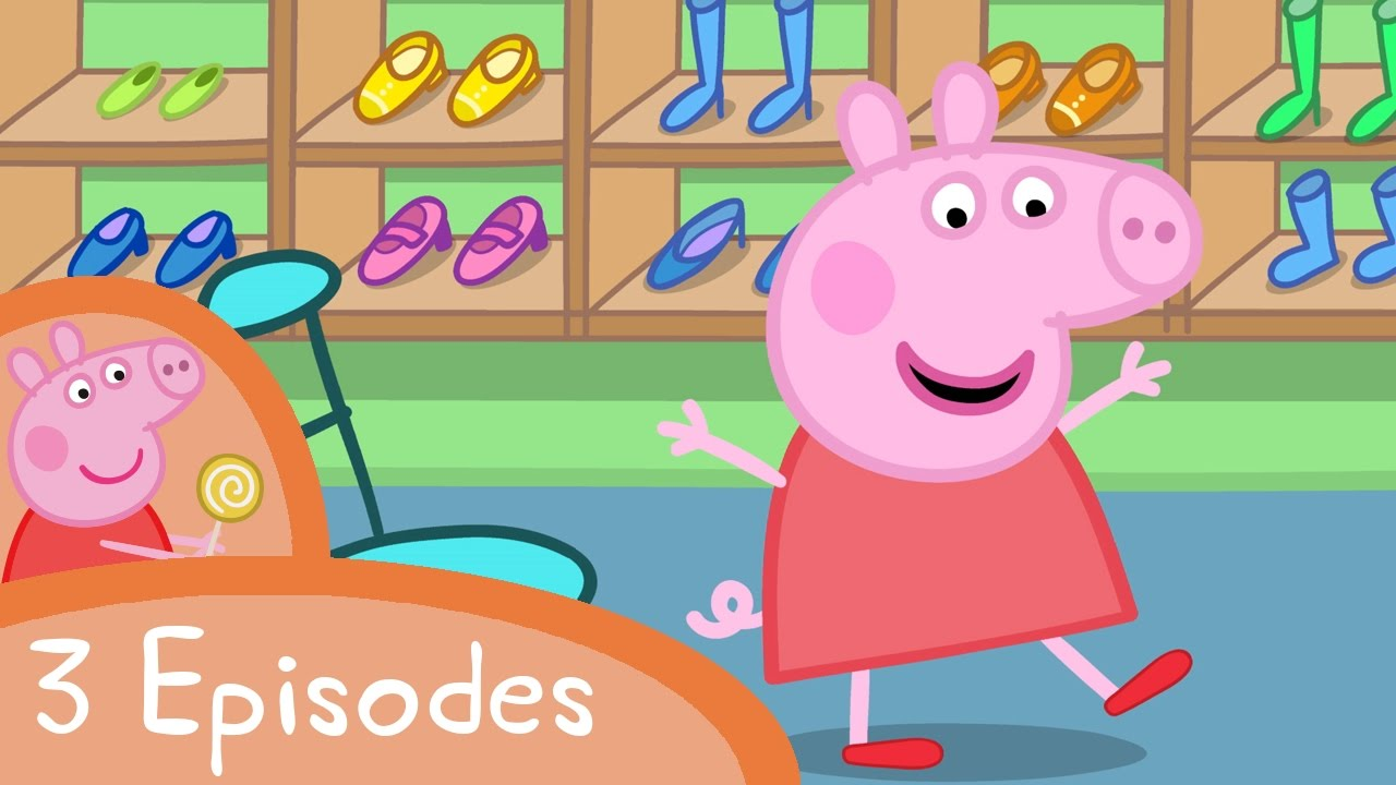 peppa pig shopping and new things 3 episodes youtube. Black Bedroom Furniture Sets. Home Design Ideas