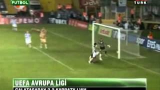 Galatasaray 2 - 2 Karpaty Lviv (UEFA Europa League Play Off 19.08.2010)