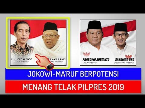 Jokowi Maruf Berpotensi Menang Telak Pilpres 2019 Survei LSI Dan 4 Lembaga