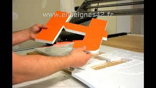 THAÏ FOOD  - Kit Lettres PVC 19 mm pour enseigne à installer soi-même