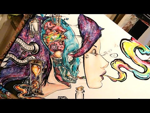 """""""Acid"""" by Ghost Town Cover Art (Speed Painting)"""