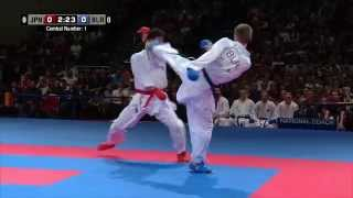Male Team Kumite BELARUS vs JAPAN (1/3). 2014 World Karate Championships. Bronze Medal