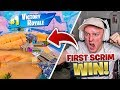 MY FIRST SCRIM WIN ON FORTNITE!!