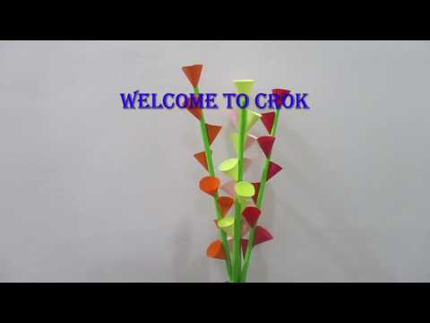 #DIY #Paper_flower ||Simple And Easy Cone Paper Flower||@croknit crafts