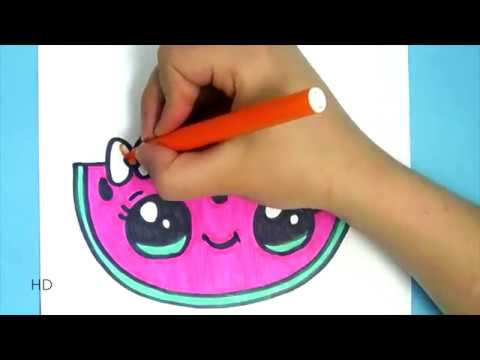 Kawaii Wassermelone Selber Malen Youtube