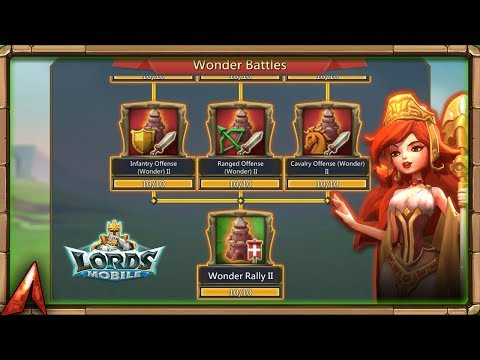 Finishing Wonder Battle Ll Research Tree! Lords Mobile
