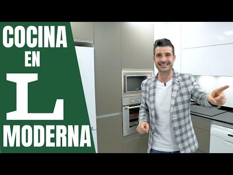 Cocinas en L 🎈// MODERNAS // Cocinas CJR SANTOS