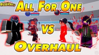 All For One VS OverHaul | Boku No Roblox Remastered