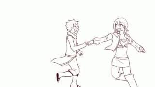 Гифка я танцую вместе с Нацу Драгнилом