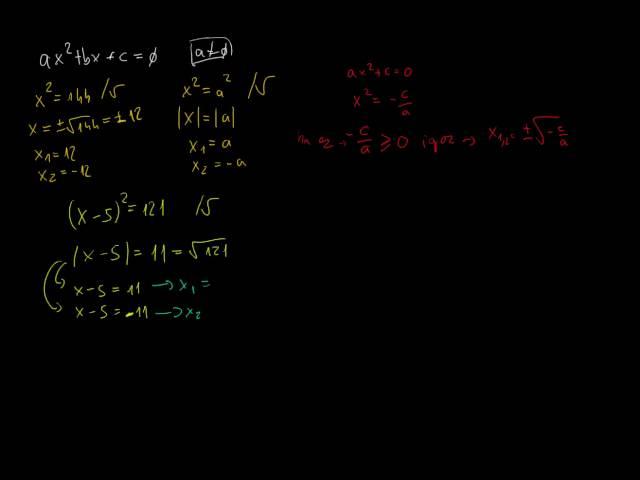 Másodfokú egyenlet megoldóképlete - bevezető példákkal (1. rész)