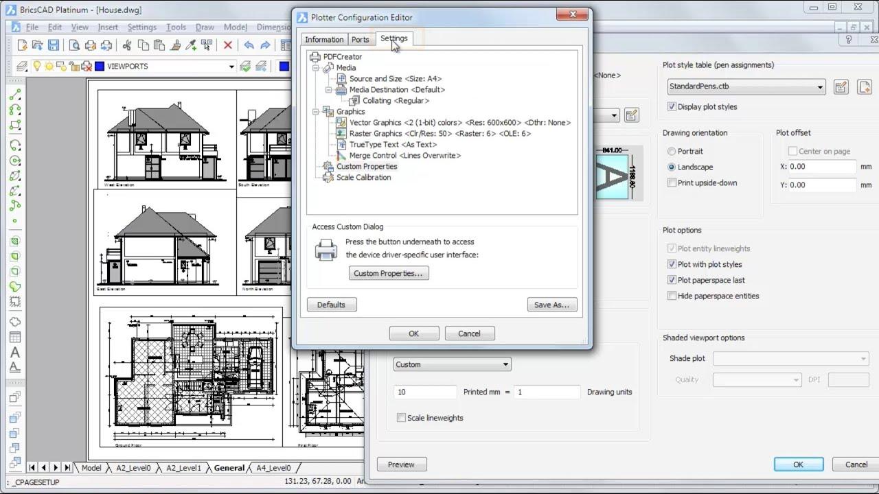 Plotter Configuration – BricsCAD Help Center