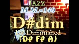 d# diminished (d# f# a) - jazz - m.m.=140 - one chord backing track